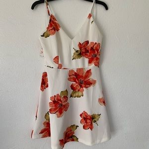 Love tree floral short dress
